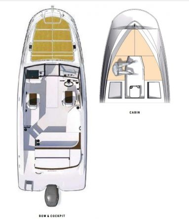 Sea Ray Boat Sun Sport 230 Outboard Floor Plan for Sale at BayMarine