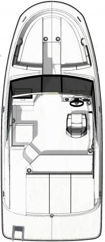 Sea Ray floorplan_2020_spx190_standard