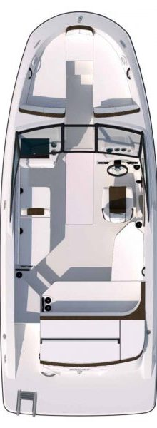 Sea Ray SPX 210 Boat for Sale at BayMarine - Floor plan