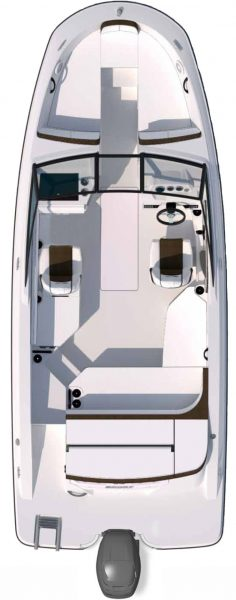 Sea Ray Boat SPX 210 Outboard for Sale at BayMarine - floor plan